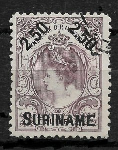 Suriname 1900,Queen Wilhelmina Surcharged Scott # 38,VF USED !! (RN-7)