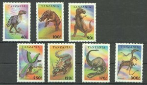 Y1371 1994 TANZANIA FAUNA REPTILES PREHISTORIC ANIMALS DINOSAURS 1SET MNH