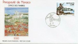 Monaco Europa Stamps 2020 FDC Ancient Postal Routes Services Architecture 1v Set