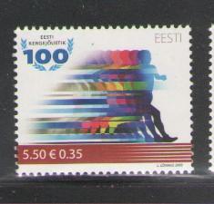 Estonia Sc 623 2009 Track & Field stamp mint NH