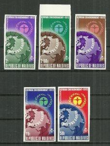 1972 Maldives Islands UN Human Environment Conf. C/S imperf. MNH