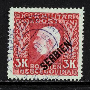 Austria Serbia 1916 Scott #1N19 used