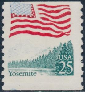 #2280 VAR. YOSEMITE MOSTLY BLUE COLOR OMMITTED ERROR BS7920