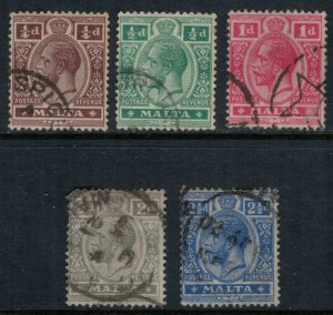 Malta #49-53 (52 rounded corner)  CV $7.65