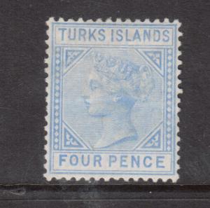 Turks Island #43 Very Fine Mint Hinged