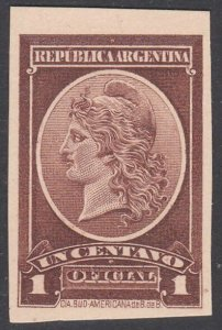 ARGENTINA - Plate proof on thick card.......................................D689