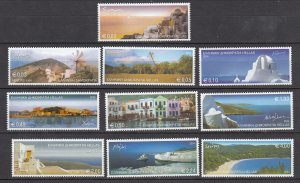 J26239  jlstamps 2004 greece set mnh #2165-74 island views