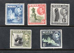 Stam[s from MALTA MNH F/VF KGVI  SCV $10