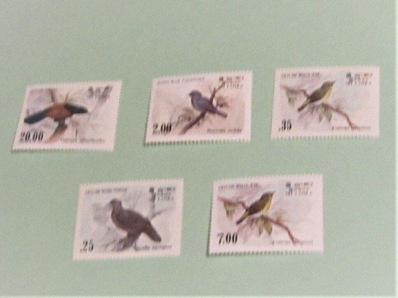 Sri Lanka - 691-4, 877 MNH Set. Birds. SCV - 7.90