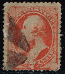US STAMP #149 1870-71 7¢ Stanton National Bank Note Printing USED