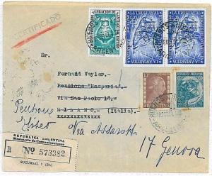 ARGENTINA - POSTAL HISTORY: COVER to ITALY 1954 . EVITA