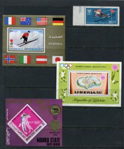 Olympic Games  3 Souvenir Sheets  Different countries  MNH 2308hs
