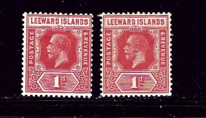 Leeward Is 63 and 63a MH 1921-32 issues