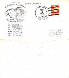 1978 US NAVY + FLIGHT CACHET, 1978, Polar