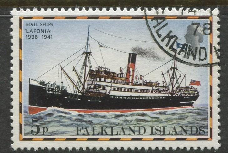 Falkland Is.- Scott 264 - Ships Issue - 1978 - VFU - Single 5p Stamp