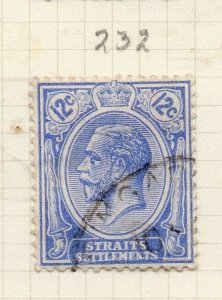 Malaya Straights Settlements 1921 Early Issue Fine Used 12c. 280879