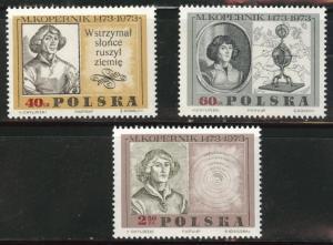 Poland Scott 1659-1661 MNH** 1969 Copernicus set
