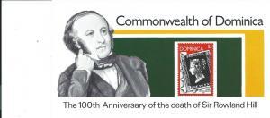 Dominica #612 Rowland Hill Souvenir Sheet (MNH)  CV $1.50