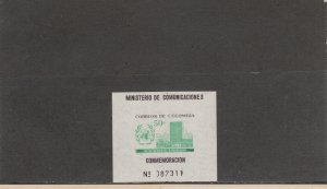 COLOMBIA 725 SOUVENIR SHEET MNH 2014 SCOTT CATALOGUE VALUE $3.75