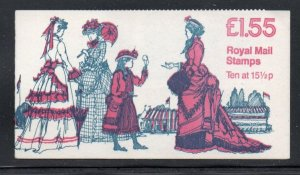 Great Britain Sc BK651 ( MH93) 1982 £1.55 Womens Costume booklet mint NH