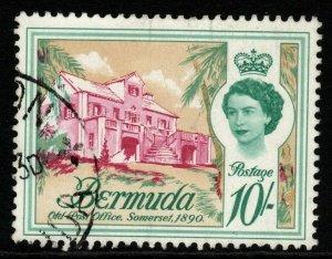 BERMUDA SG178w 1962 10/= DEFINITIVE WMK INVERTED FINE USED