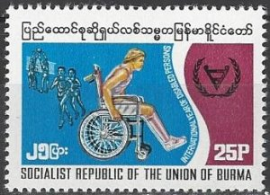 Burma  284  MNH  WHO  International Year of Disabled Person