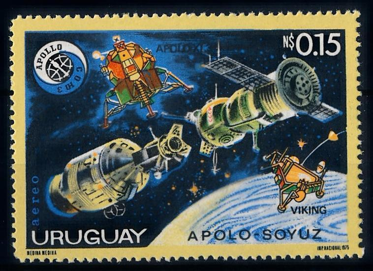 [66080] Uruguay 1975 Space Travel Weltraum Apollo 11 From Set MNH