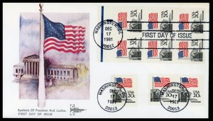 US FDC #1894-1896 Flag over Court 3 formats - Gillcraft Cachet