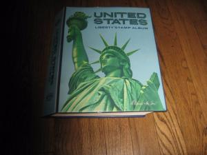 USA STAMP ALBUM pages till 1977 NO STAMPS 897 0517