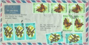 83846 - KENYA -   Cover to FINLAND 1992 - BUTTERFLIES