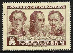 Paraguay 1961 Scott# 588 MH