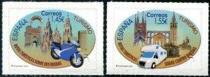 HERRICKSTAMP NEW ISSUES SPAIN Tourism 2020 Vehicles Self-Adhesive