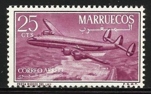 Morocco Northern Zone Air Mail 1956 Scott# C1 MH (gum disturbance)