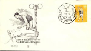 Argentina, Worldwide First Day Cover, Sports