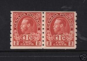 Canada #MR6ii VF/NH Coil Pair  **With Certificate**