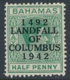 Bahamas  SG 162 SC# 116 MH  Landfall of Columbus see details
