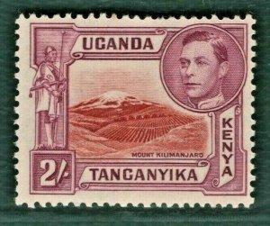 British KUT KGVI Stamp SG.146 2s (1938) Mint VLMM Cat £140- Short Perf* BLACK186