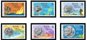 British Virgin Is 254-59 MNH 1973 Coins and Beach scenes    (ap1475)