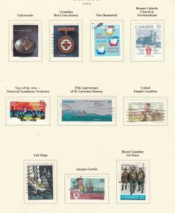 CANADA   ^^^^^198  used   collection on page  ( TOPICALS) @x dca 414xxbca144