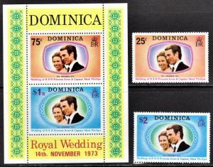 Dominica Scott 372-73a  complete set  F to VF mint OG NH.