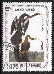 Haiti #not listed 2.50g Birds - Anhinga ~ CTO