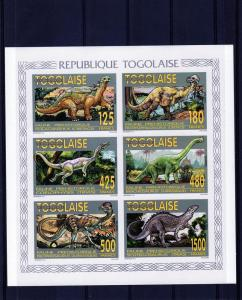 Togo 1994 Dinosaurs/Prehistoric Collective SS Imperf.2206/11