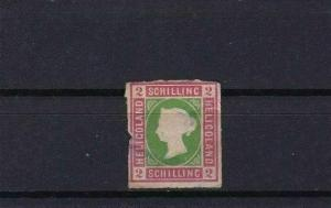 HELIGOLAND 1867 2 sch UNUSED ROULETTE STAMP CAT £65 CONDITION SHOWN REF 6158