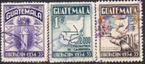 Guatemala #363-365 Used Set