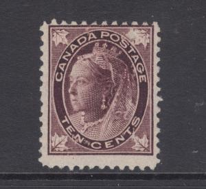 Canada Sc 73 MNG. 1898 10c Queen Victoria Maple Leaf, Scarce