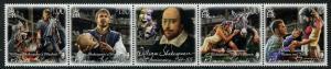 HERRICKSTAMP NEW ISSUES PITCAIRN ISLANDS Sc.# 813 William Shakespeare Strip