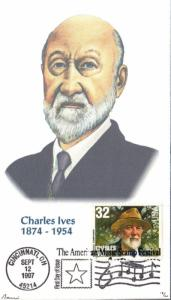 #3164 Charles Ives Barre FDC