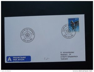 bicycle cycling world cup postmark on cover Norway 26/08/1993