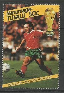 TUVALU, NANUMAGA 1986, MNH 50c,World Cup Soccer Scott 63