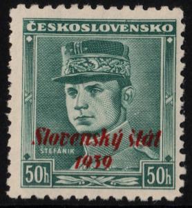 ✔️ SLOVAKIA 1939 - SLOVENSKY STAT OVERPRINT - SC.9 MNH OG [SK009]